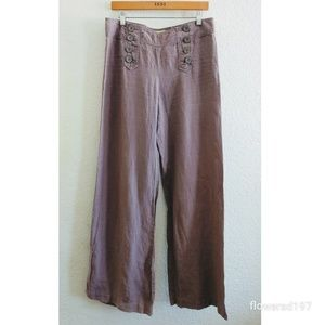 Anthropologie Elevenses Linen Trouser Size 8